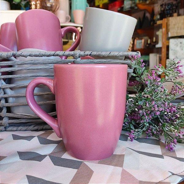 Caneca Cerâmica Rosa Blush Home 360ml