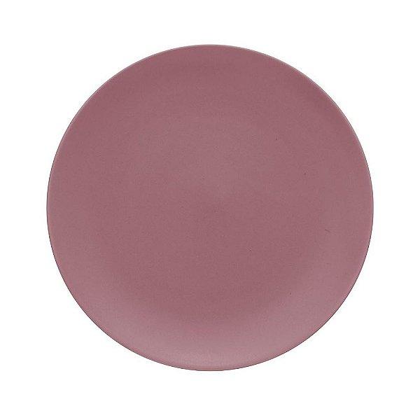 Conjunto de Pratos Rasos Rosa Blush 27cm Color Home 6 peças