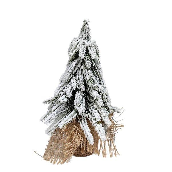 Mini Árvore de Natal de Mesa Nevado 20cm