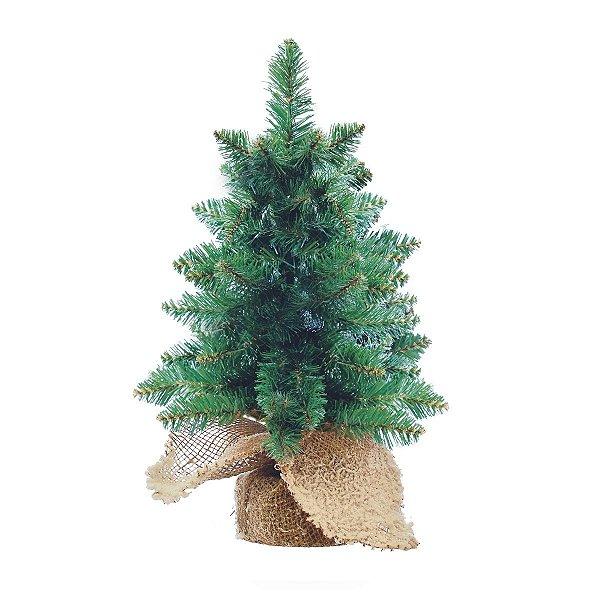 Mini Árvore de Natal 60 cm 71 Galhos Base Juta Cromus
