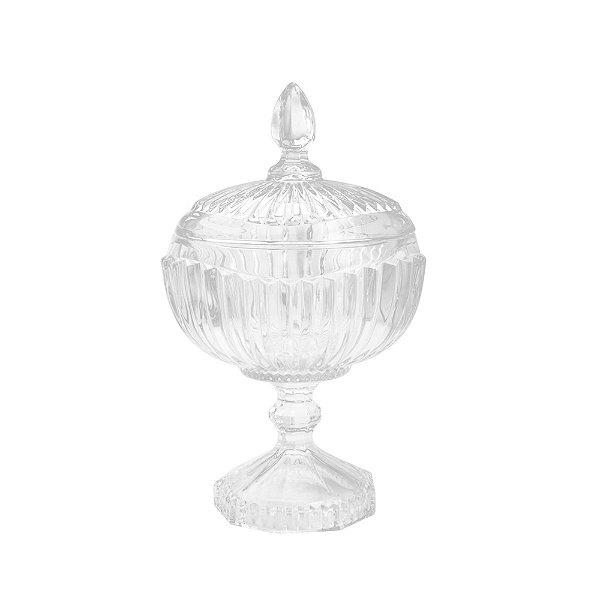 Potiche Cristal Transparente Elisabeth 26 cm