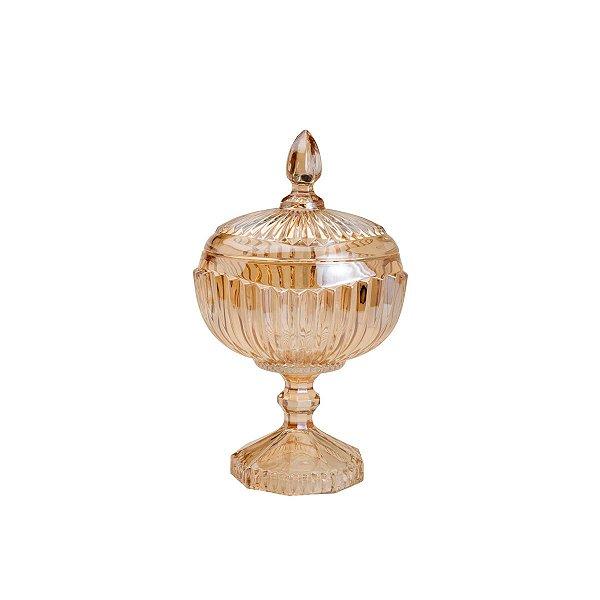 Potiche Cristal Âmbar Elisabeth 26 cm
