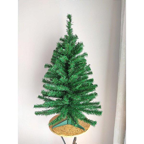 Árvore de Natal Cromus 90cm 120 Galhos Santiago Base Plástico