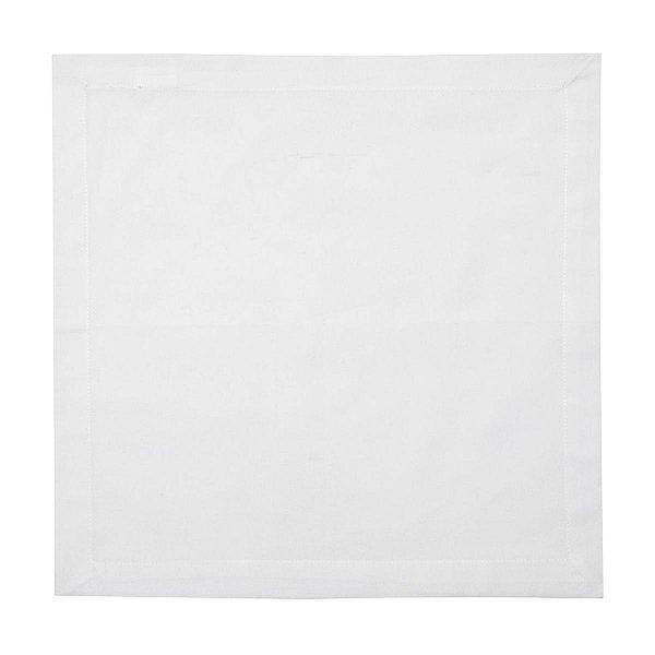 Jogo Guardanapo Tecido Algodão Branco 40 x 40 cm 2 Unidades