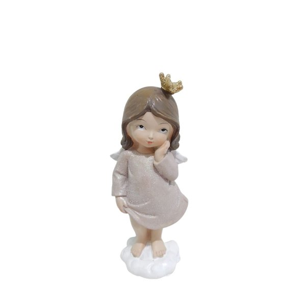 Anjinha Menina 13 cm Vestido Rose