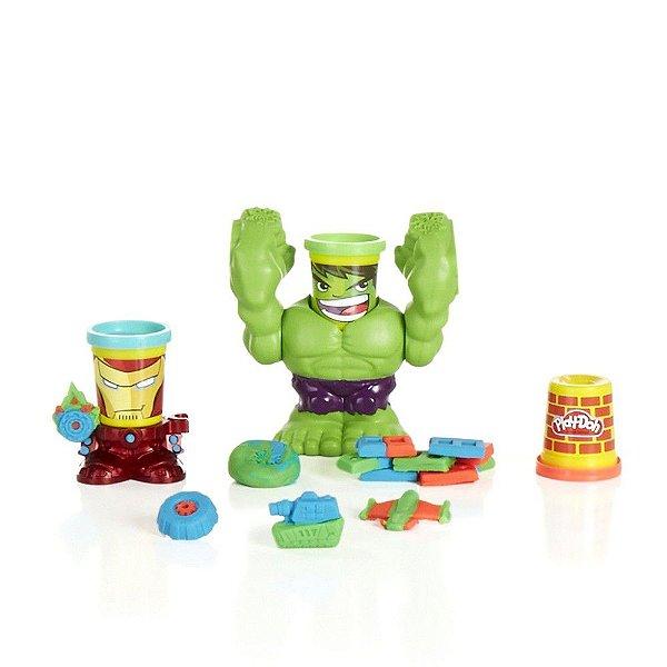 Massinha Modelar Play Doh Hulk Esmagador Can Heads - Hasbro