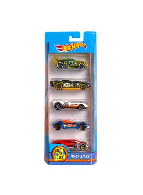 Pacote Com 5 Carros Track Stars - Mattel