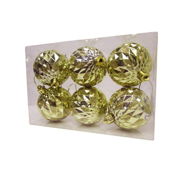 Conjunto de Bolas de Natal Dourada 5cm - AV 09