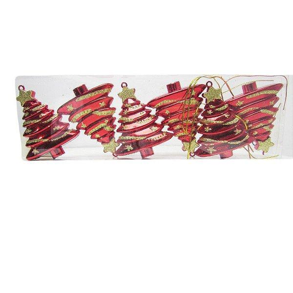 Conjunto Enfeites de Natal Pinheiro Vermelho - AV 09