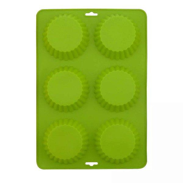 Forma Para Cupcake De Silicone Verde - Mimo Style