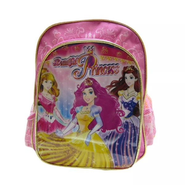 Mochila Beatiful Princess Rosa Pequena - Kit