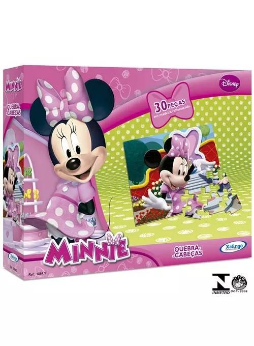 Quebra Cabeça Minnie 30 peças - Xalingo