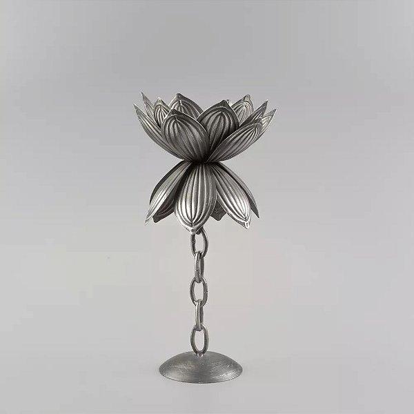 Castiçal Flor de Metal 38cm