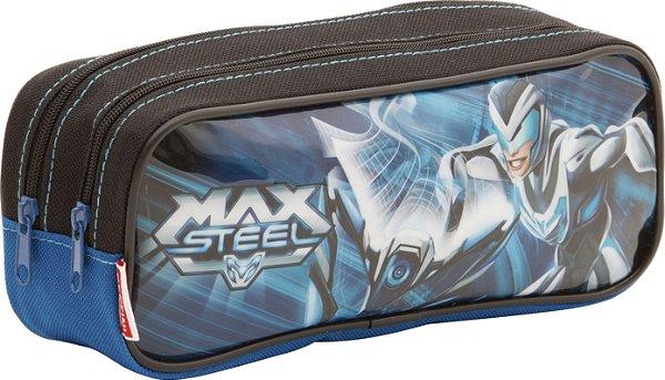 Estojo Max Steel 2 Compartimentos Sestini 17M