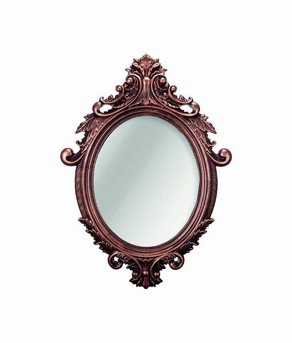 Espelho Oval Rococo Bronze Mart Pequeno