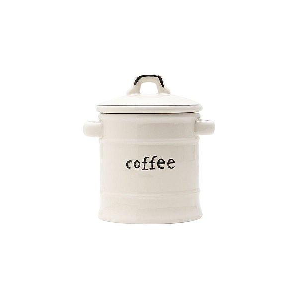 Pote de Porcelana Café com Tampa Bon Gourmet