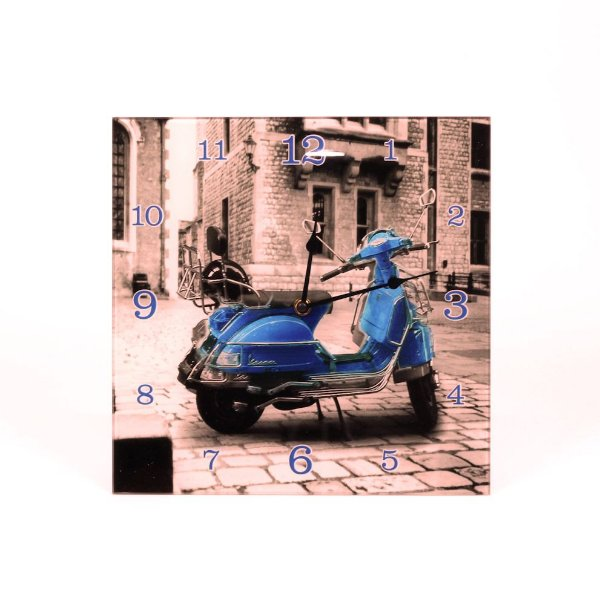 Relógio de Parede Moto Vespa Sépia
