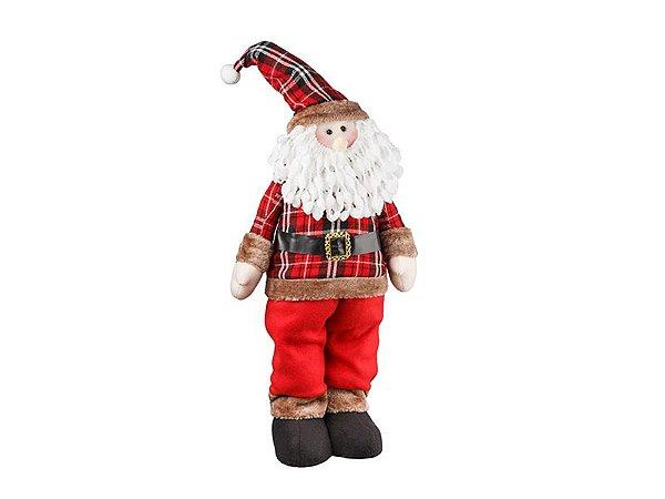 Boneco Papai Noel Em Pé Country 65cm Regina