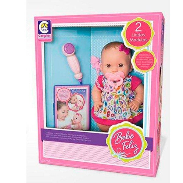 Boneca Bebê Feliz Duchinha Cotiplás