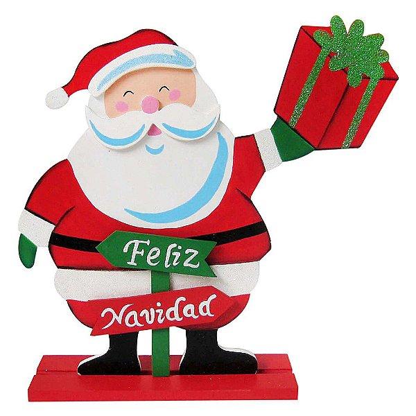 Decoração Natalina Feliz Natal Placa Madeira