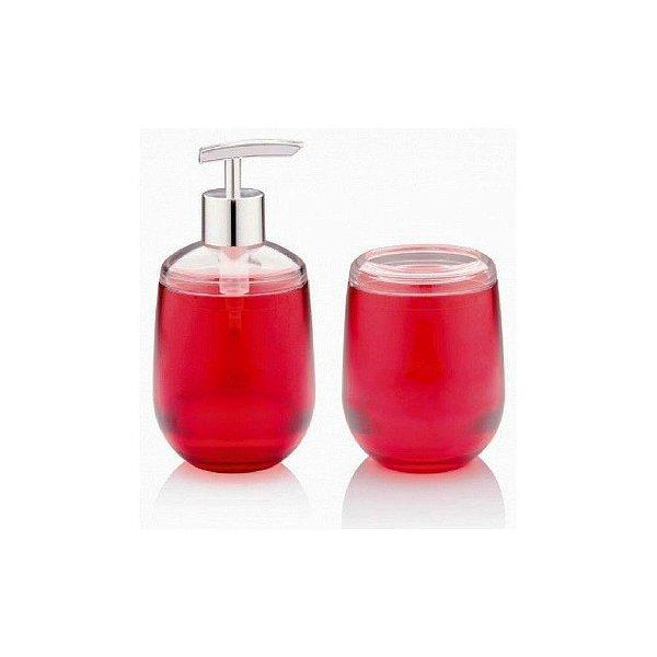 Conjunto Para Banheiro Acrílico Belly Rosa 2 Peças Ou