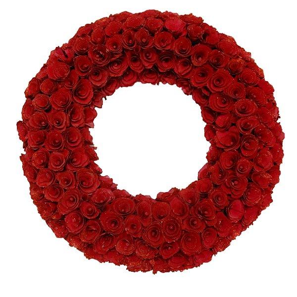 Guirlanda Rosas Vermelhas 59 cm - Zona Livre