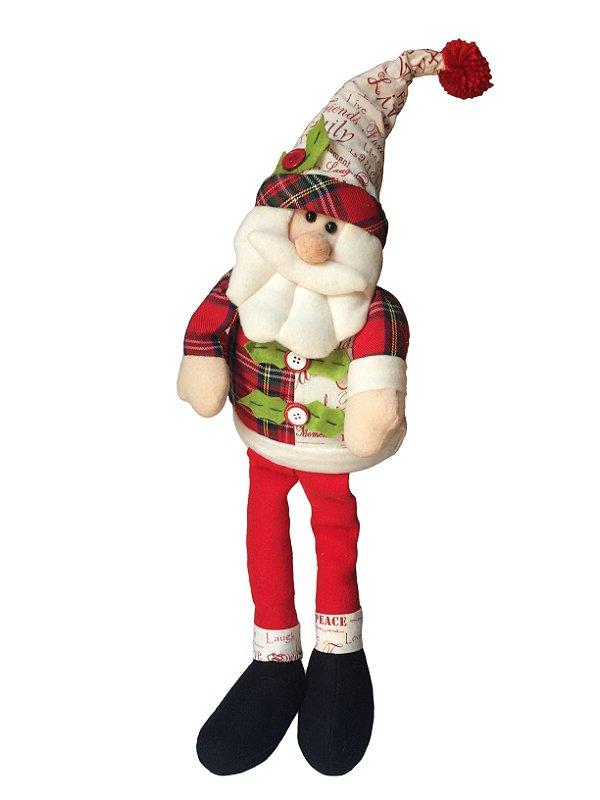Papai Noel Para Ficar Sentado 68 cm Zona Livre