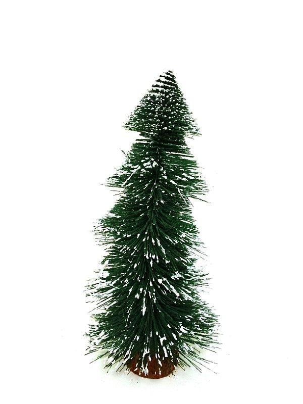 Mini Árvore De Natal De Mesa Flocada Escamada