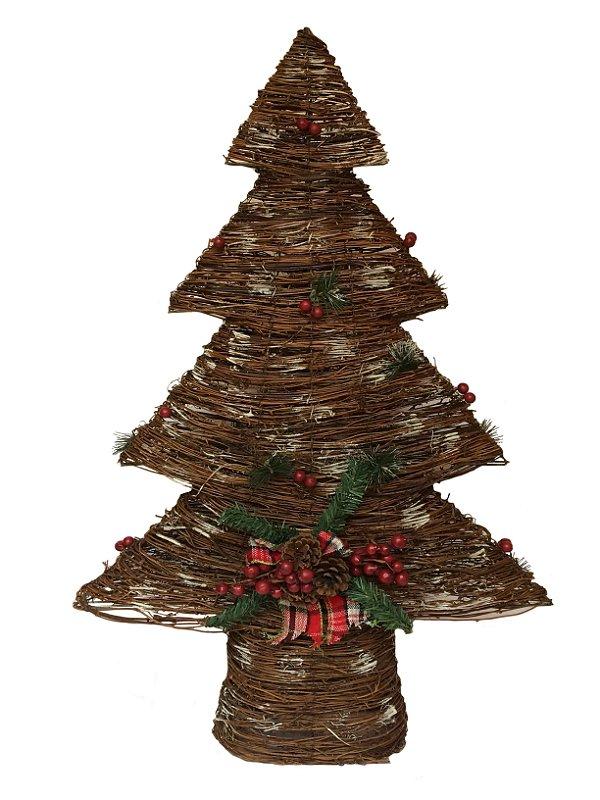 Decorativo De Pinheiro De Natal Rústico Com Cipó Decorville