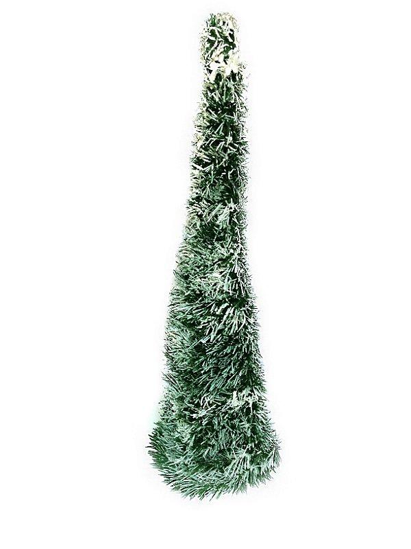 Árvore De Natal Pinheiro Cone Nevado Decorville