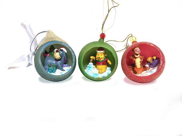Kit De Enfeite Natalino Do Ursinho Pooh Christmas Ornaments