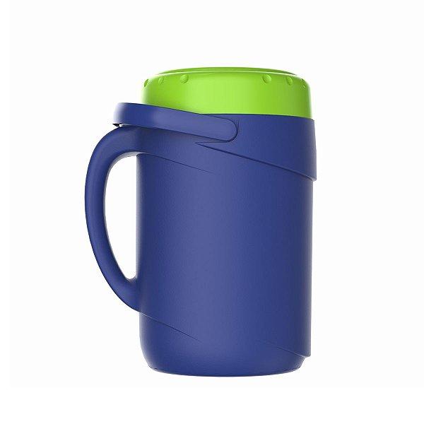Garrafa Térmica Tereré 2,5 Litros Fliptop Azul Termolar