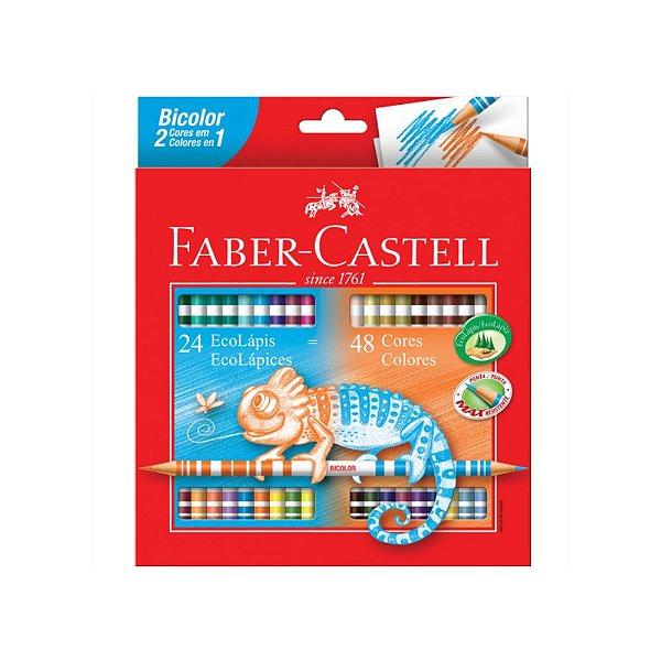 Lápis de Cor 48 Cores Bicolor Faber-Castell Redondo