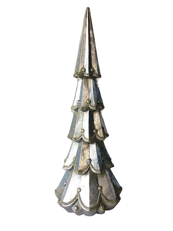 Árvore de Natal Prata Resina 26 cm