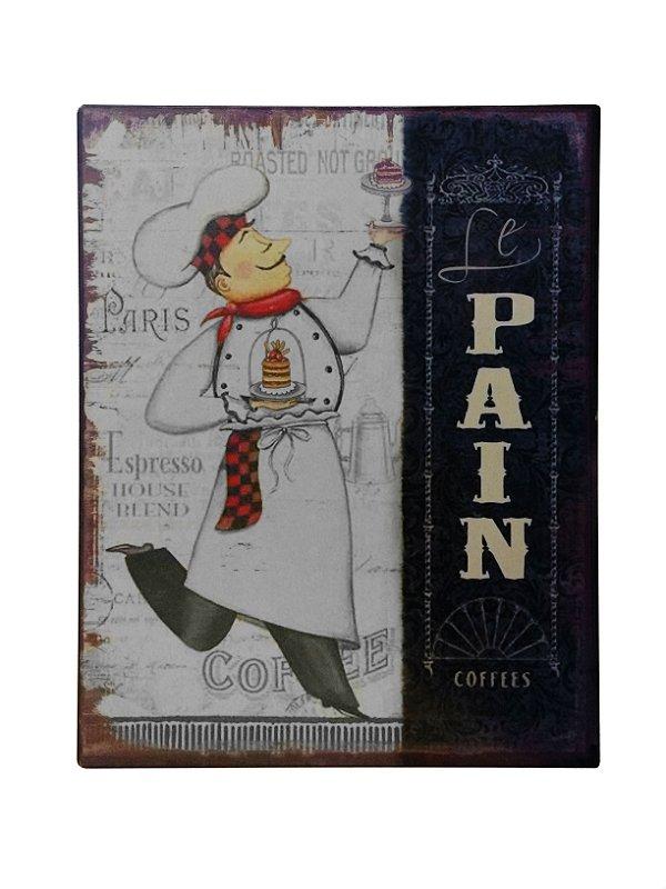 Placa de Metal Decorativa Le Pain