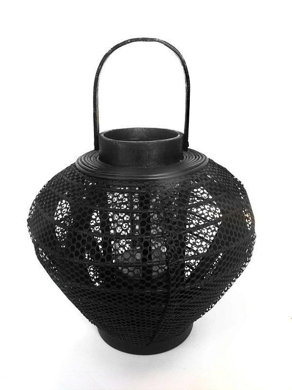 Lanterna Marroquina Bambu Preta