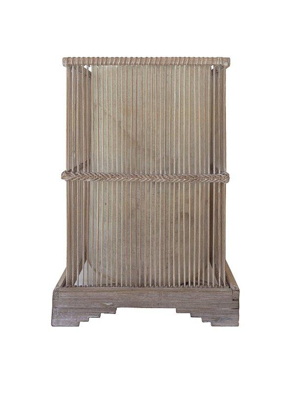 Abajur de Bambu 110v 32cm Xilya