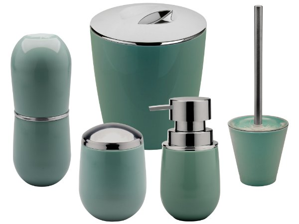 Conjunto Para Banheiro Ou Verde Kit Pia, Lixeira e Escova