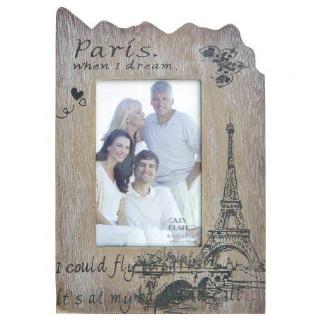 Porta Retrato de Madeira Paris 10x15 cm