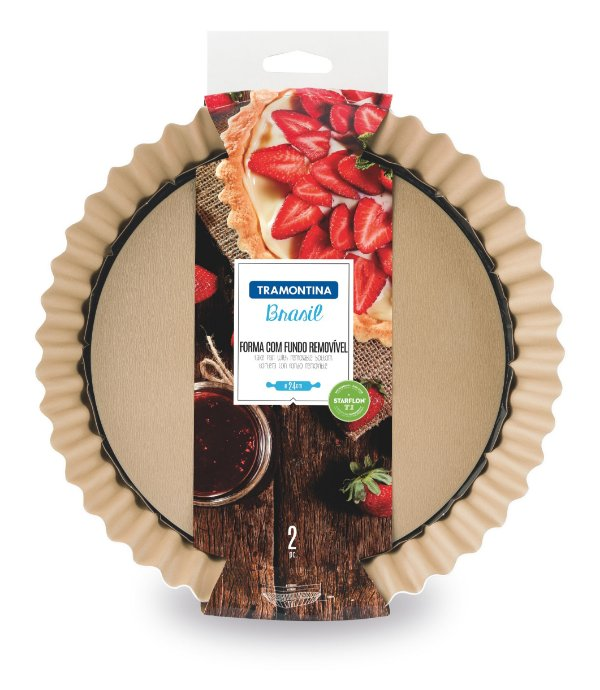 Forma para Torta Tramontina com Fundo Removível Antiaderente 24cm