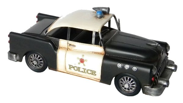 Carro de Policia de Metal Decorativo Vintage 33cm Avalon