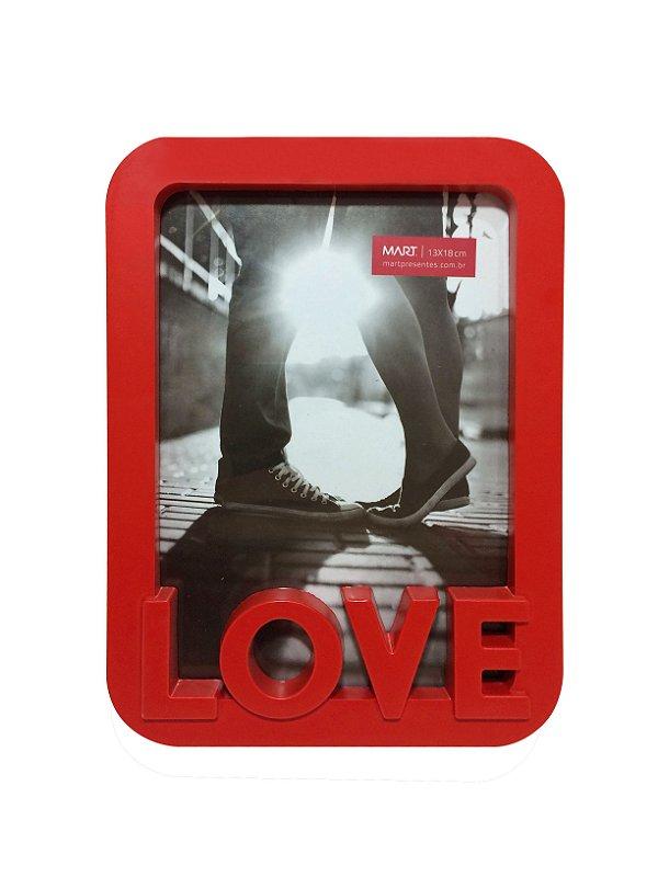 Porta Retrato Love Vermelho 13x18cm