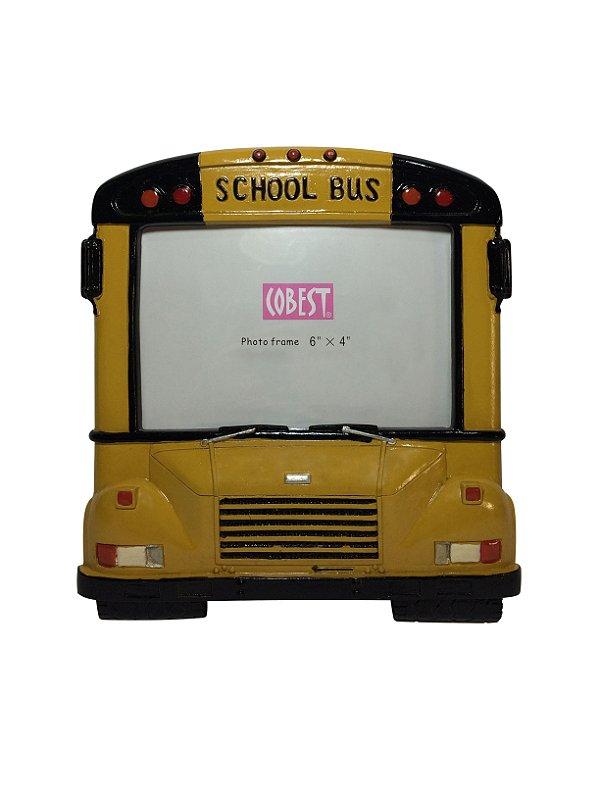 Porta Retrato Ônibus Amarelo School Bus