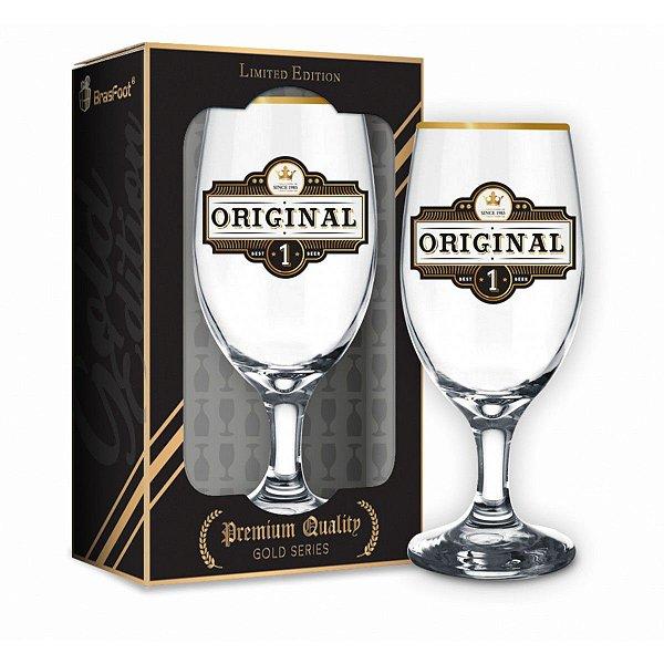 Taça Cerveja Windsor Quality Original Série Ouro 330ml Brasfoot