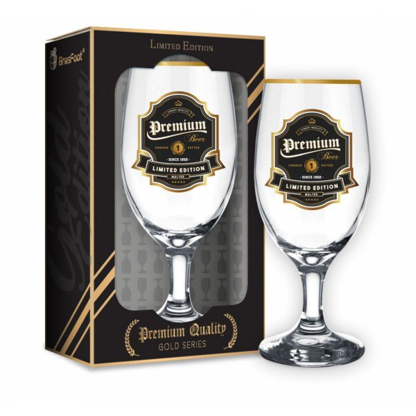 Taça Cerveja Windsor Quality Premium Beer Série Ouro 330ml Brasfoot