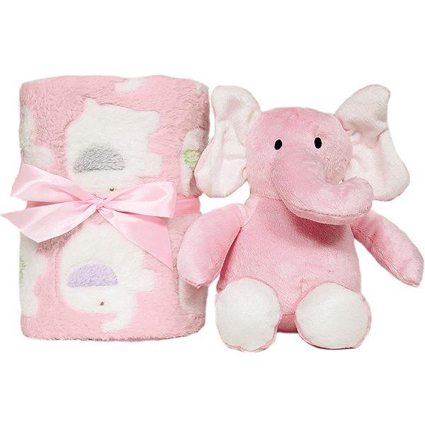 Kit Para Presente Buba Elefantinho Rosa com Manta