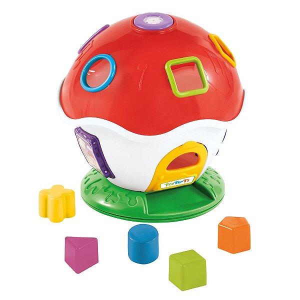 Brinquedo Didático Cogumelo Musical Tateti Little Mush Cores Sortidas
