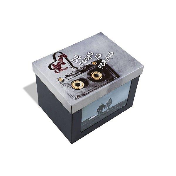 Caixa Porta Trecos Amor De Todas As Formas de Metal