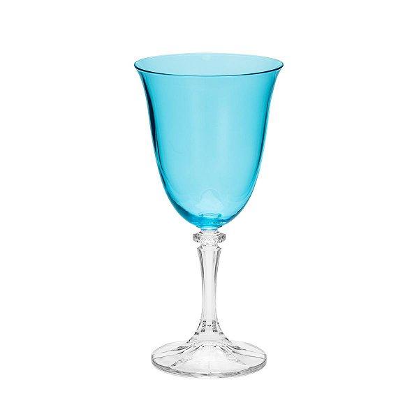 Jogo de Taças Bohemia Kleopatra Azul Island Paradise para Água 6 Peças 360ml