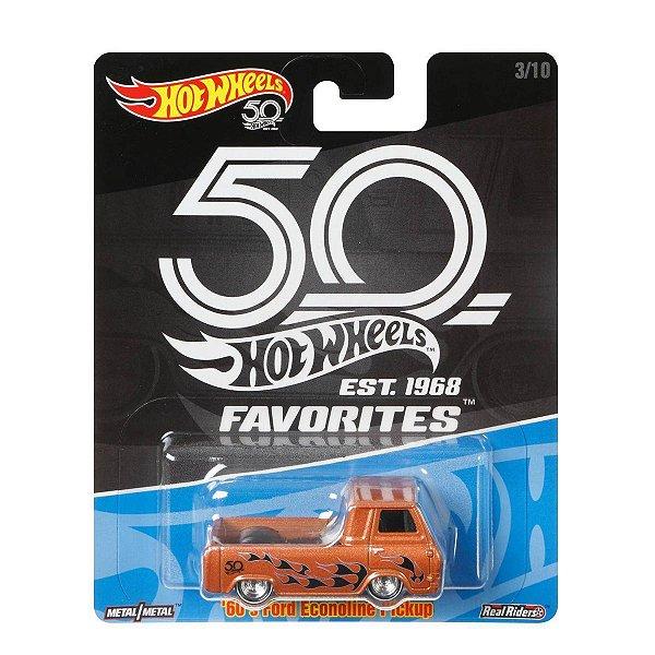 Carrinho Hot Wheels Favorites 50 Anos 60s Ford Econoline FLF40 Mattel